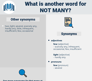 not many, synonym not many, another word for not many, words like not many, thesaurus not many