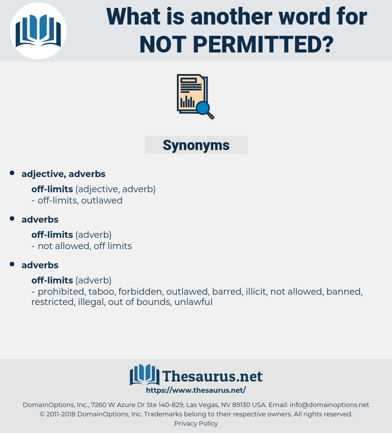 not permitted, synonym not permitted, another word for not permitted, words like not permitted, thesaurus not permitted