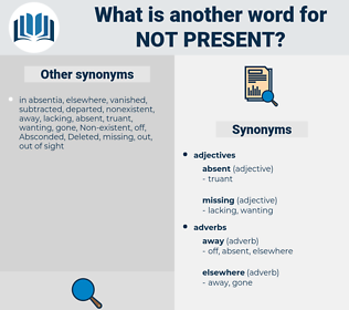 not present, synonym not present, another word for not present, words like not present, thesaurus not present