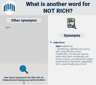 not rich, synonym not rich, another word for not rich, words like not rich, thesaurus not rich