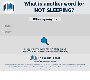not sleeping, synonym not sleeping, another word for not sleeping, words like not sleeping, thesaurus not sleeping