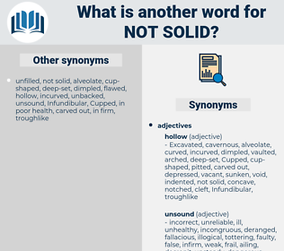 not solid, synonym not solid, another word for not solid, words like not solid, thesaurus not solid