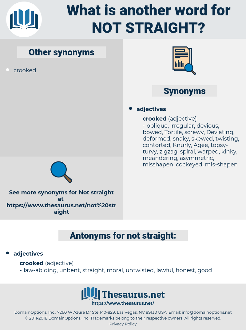 not straight, synonym not straight, another word for not straight, words like not straight, thesaurus not straight