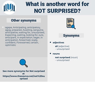 not surprised, synonym not surprised, another word for not surprised, words like not surprised, thesaurus not surprised