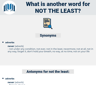 not the least, synonym not the least, another word for not the least, words like not the least, thesaurus not the least