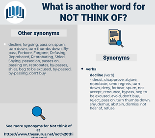 not think of, synonym not think of, another word for not think of, words like not think of, thesaurus not think of