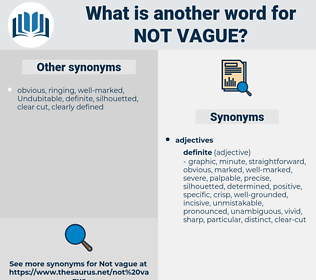 not vague, synonym not vague, another word for not vague, words like not vague, thesaurus not vague