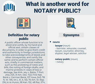 notary public, synonym notary public, another word for notary public, words like notary public, thesaurus notary public