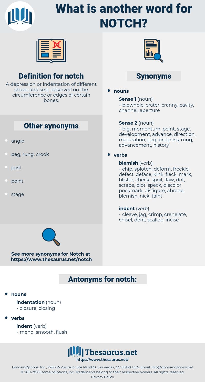 notch, synonym notch, another word for notch, words like notch, thesaurus notch