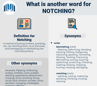 Notching, synonym Notching, another word for Notching, words like Notching, thesaurus Notching