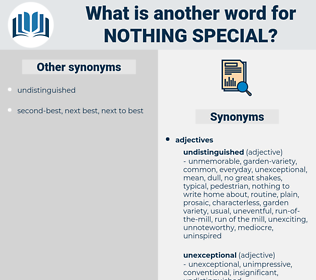 nothing special, synonym nothing special, another word for nothing special, words like nothing special, thesaurus nothing special