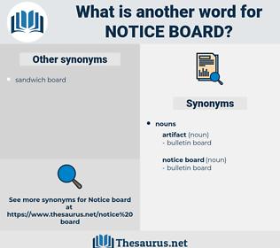 notice board, synonym notice board, another word for notice board, words like notice board, thesaurus notice board