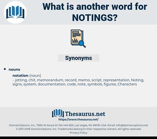 notings, synonym notings, another word for notings, words like notings, thesaurus notings