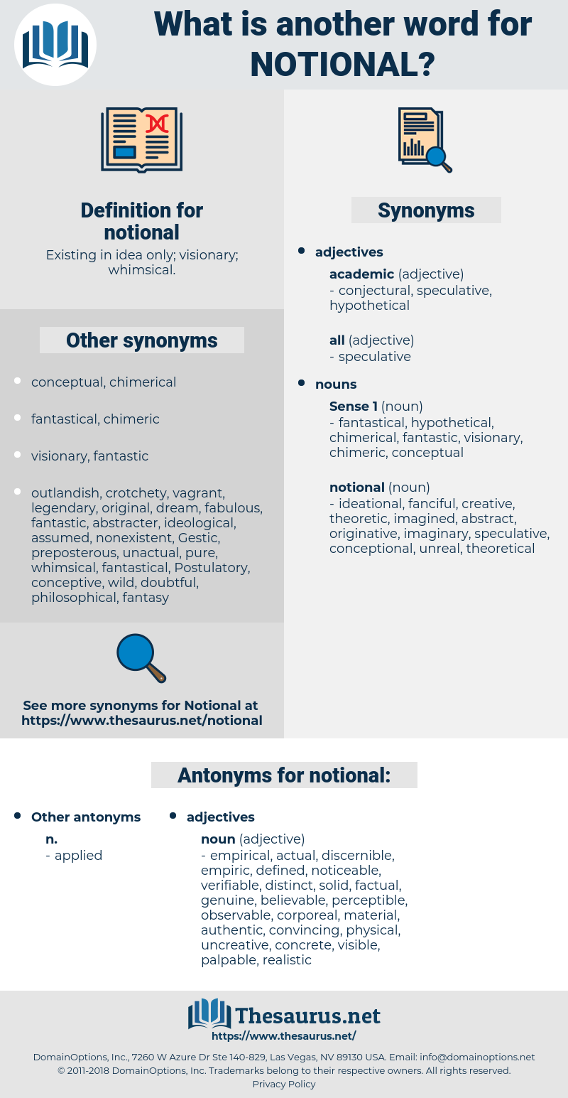 notional, synonym notional, another word for notional, words like notional, thesaurus notional