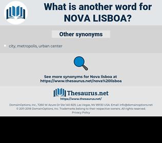 nova lisboa, synonym nova lisboa, another word for nova lisboa, words like nova lisboa, thesaurus nova lisboa