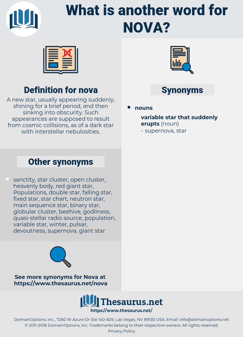 nova, synonym nova, another word for nova, words like nova, thesaurus nova