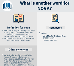 nova, synonym nova, another word for nova, words like nova, thesaurus nova