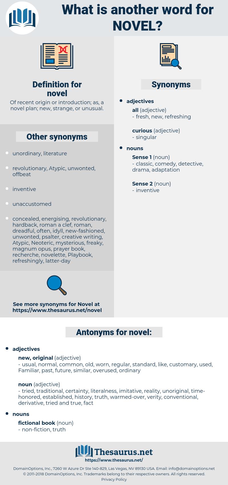 novel, synonym novel, another word for novel, words like novel, thesaurus novel