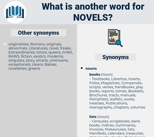 novels, synonym novels, another word for novels, words like novels, thesaurus novels