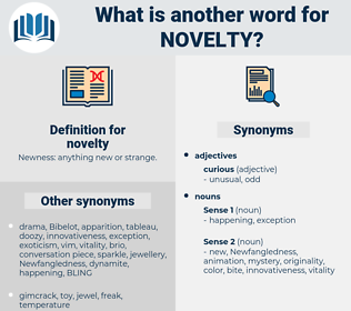 novelty, synonym novelty, another word for novelty, words like novelty, thesaurus novelty