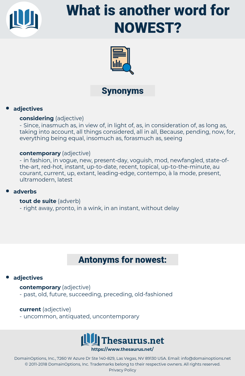 nowest, synonym nowest, another word for nowest, words like nowest, thesaurus nowest