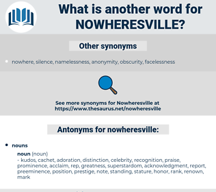 nowheresville, synonym nowheresville, another word for nowheresville, words like nowheresville, thesaurus nowheresville