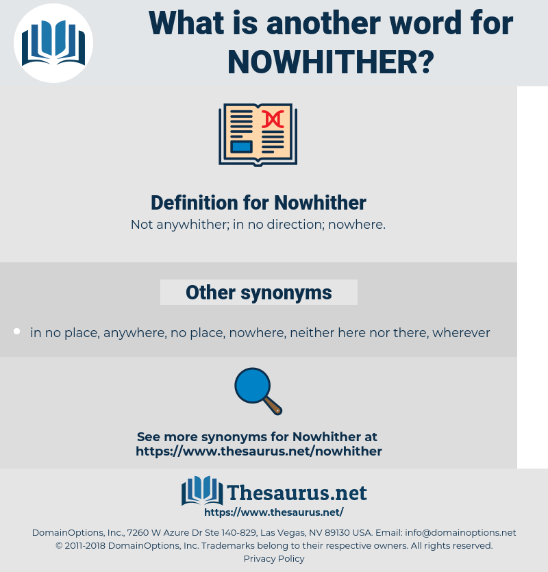 Nowhither, synonym Nowhither, another word for Nowhither, words like Nowhither, thesaurus Nowhither