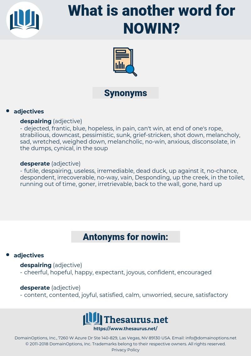 nowin, synonym nowin, another word for nowin, words like nowin, thesaurus nowin