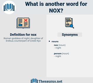 nox, synonym nox, another word for nox, words like nox, thesaurus nox