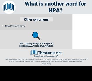 NPA, synonym NPA, another word for NPA, words like NPA, thesaurus NPA