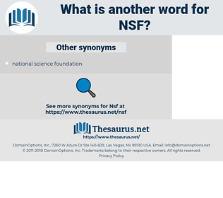 NSF, synonym NSF, another word for NSF, words like NSF, thesaurus NSF