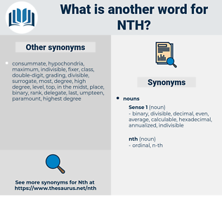 nth, synonym nth, another word for nth, words like nth, thesaurus nth