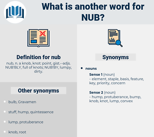 nub, synonym nub, another word for nub, words like nub, thesaurus nub