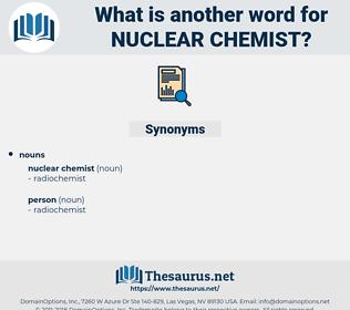 nuclear chemist, synonym nuclear chemist, another word for nuclear chemist, words like nuclear chemist, thesaurus nuclear chemist