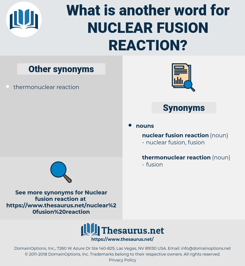 nuclear fusion reaction, synonym nuclear fusion reaction, another word for nuclear fusion reaction, words like nuclear fusion reaction, thesaurus nuclear fusion reaction