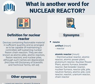 nuclear reactor, synonym nuclear reactor, another word for nuclear reactor, words like nuclear reactor, thesaurus nuclear reactor