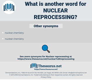 nuclear reprocessing, synonym nuclear reprocessing, another word for nuclear reprocessing, words like nuclear reprocessing, thesaurus nuclear reprocessing