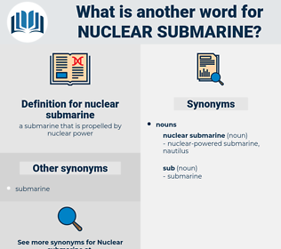nuclear submarine, synonym nuclear submarine, another word for nuclear submarine, words like nuclear submarine, thesaurus nuclear submarine