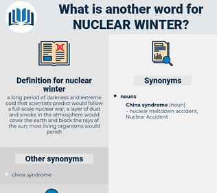 nuclear winter, synonym nuclear winter, another word for nuclear winter, words like nuclear winter, thesaurus nuclear winter