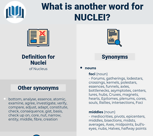 Nuclei, synonym Nuclei, another word for Nuclei, words like Nuclei, thesaurus Nuclei