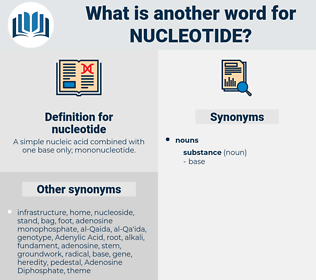 nucleotide, synonym nucleotide, another word for nucleotide, words like nucleotide, thesaurus nucleotide