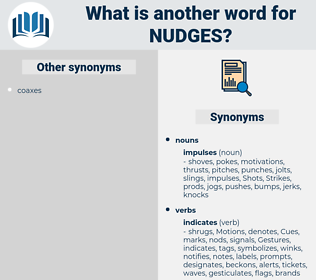 nudges, synonym nudges, another word for nudges, words like nudges, thesaurus nudges