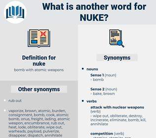 nuke, synonym nuke, another word for nuke, words like nuke, thesaurus nuke