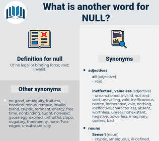 null, synonym null, another word for null, words like null, thesaurus null