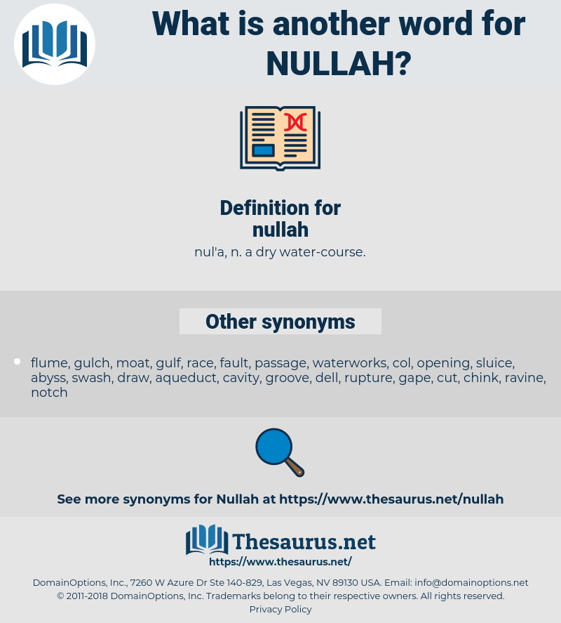 nullah, synonym nullah, another word for nullah, words like nullah, thesaurus nullah