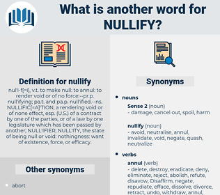 nullify, synonym nullify, another word for nullify, words like nullify, thesaurus nullify
