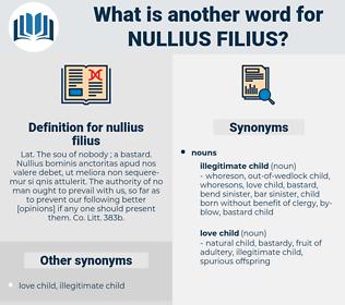 nullius filius, synonym nullius filius, another word for nullius filius, words like nullius filius, thesaurus nullius filius