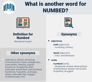 Numbed, synonym Numbed, another word for Numbed, words like Numbed, thesaurus Numbed