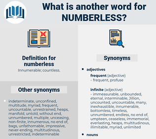 numberless, synonym numberless, another word for numberless, words like numberless, thesaurus numberless