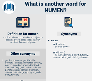 numen, synonym numen, another word for numen, words like numen, thesaurus numen